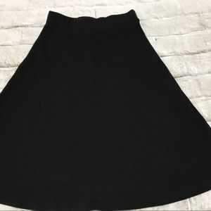 💫NEW Land's End Black Circle Skirt Sz 2/4 Petite